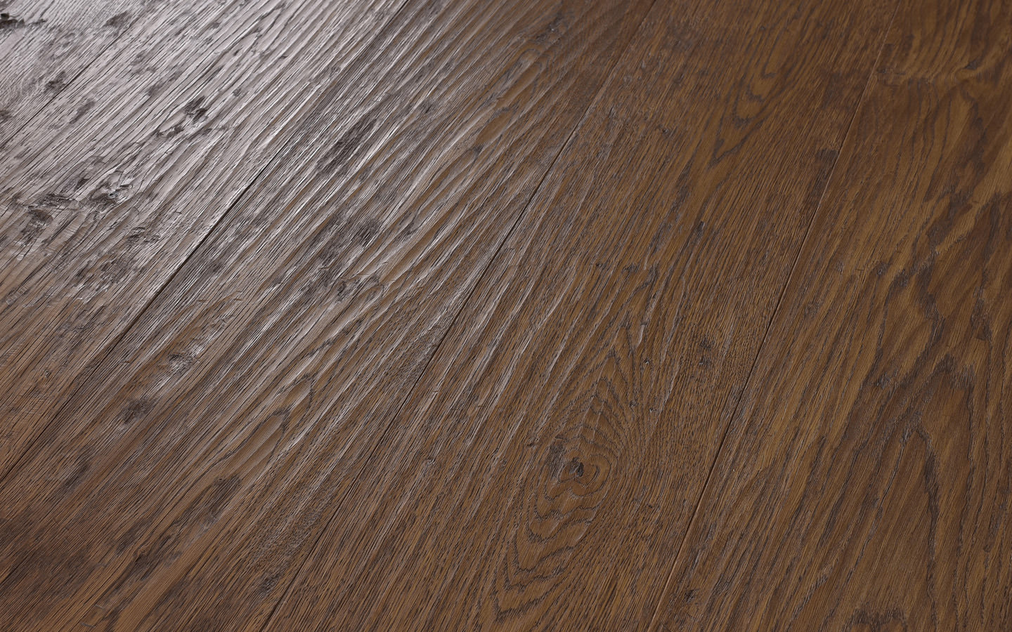 Château by adler - Oak Grenoble standard hand scrapped color oiled - 19 x 180-350 x 1800-5000 mm