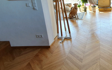 Chevron in Oak
